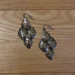 Lia Sophia Silver Chandelier Earrings